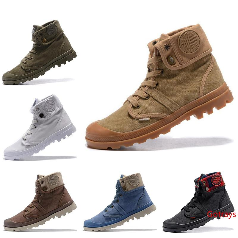 Hot sale Designer original Palladium mens women winter brand boots white red pink purple army green casual trainers ACE boots size 36-45
