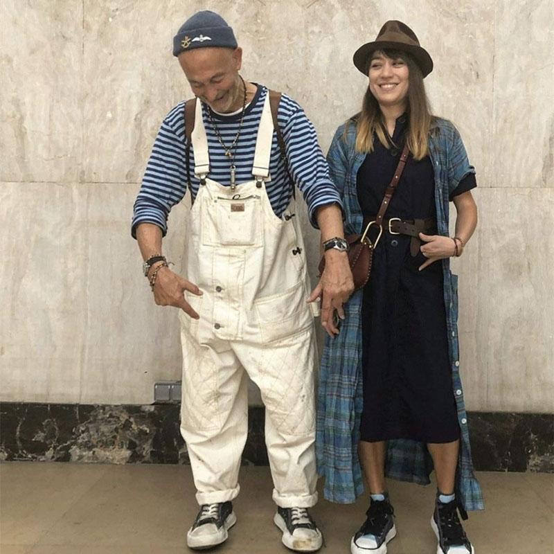 Hommes Streetwear Hip Hop Jumpsuit Salopette Japon Harajuku Hommes Femmes Couple Wide Leg Casual cargo en vrac Salopette Sarouel