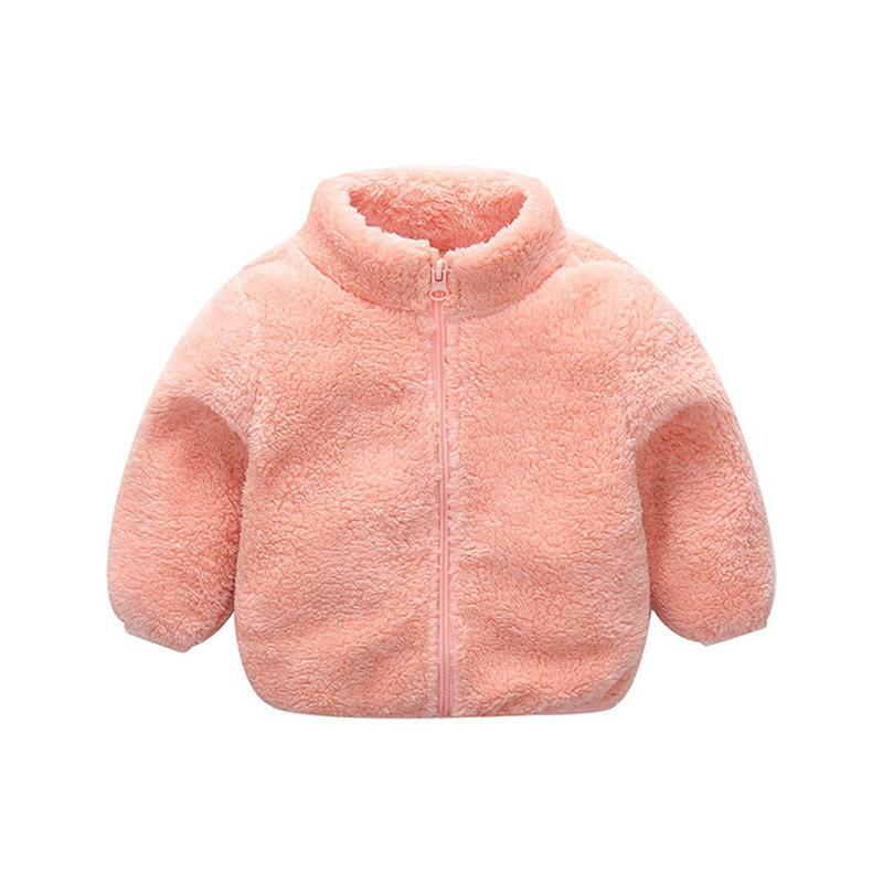 Winter Girls Plush Warm Coat 2019 New Fleece Warm Pageant Party Warm Jacket Snowsuit 1-5Y Baby Zip Up Coat Outerwear Kid Clothes