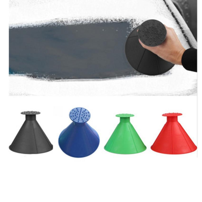 Yeni Kat Sihirli Pencere Cam Oto Buz Kazıyıcı Koni Şeklinde Huni Kar Temizleyici Araç 4 Renkler ZZA1099