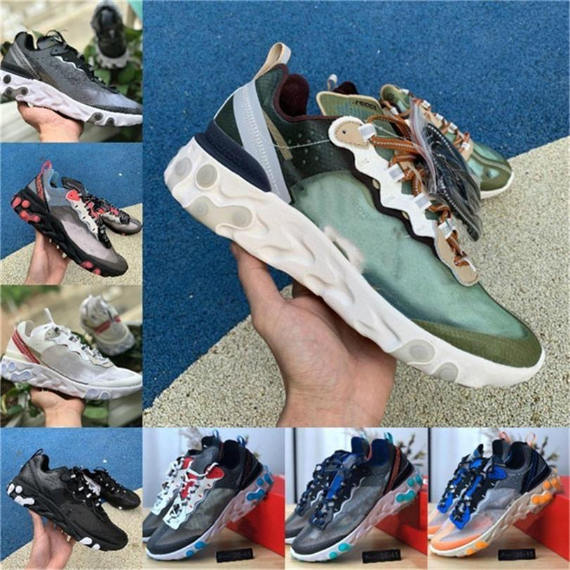 2019 Total Orange epica Reagire Element 87 casualShoes per le donne degli uomini grigio scuro Blue Chill Trainer 87s Sail verdi Mist Sport Sneakers