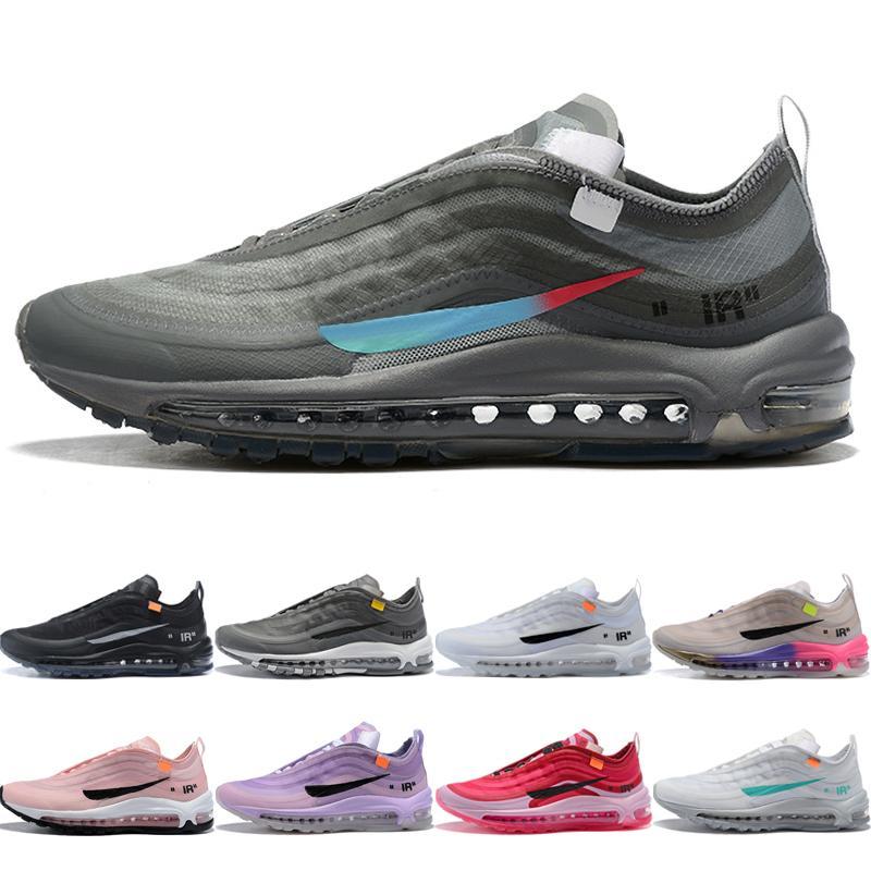97 Bullet Gri Menta Erkekler Kadınlar Için Koşu Ayakkabıları Klasik Yastık 97s Eğitmenler Yüksek Kalite Siyah Beyaz Kraliçe Büyük Çocuklar Sneakers Boyutu 36-45