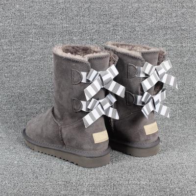 Il modo caldo di vendita che del progettista del ginocchio di inverno della neve delle donne Stivali Top in Australia Classic Short Bow Bow stivaletti Bailey Boot 2019 EUR35-44 US4-13