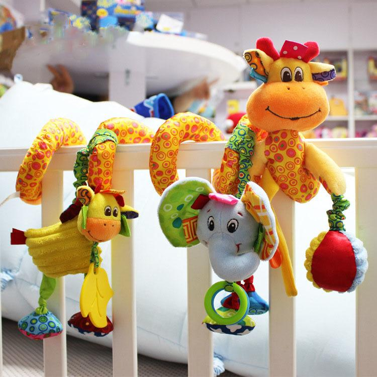 New Arrival Baby Toys Cute Musical Giraffe Multifunctional Crib Hanging Bed Bell Educational Toys Rattles for Kids CJ191216