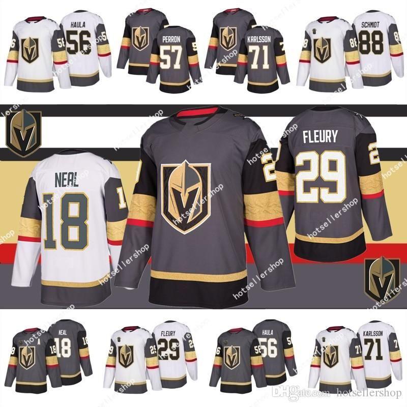 Vegas Goldene Ritter Hockey Jerseys 29 Marc-Andre Fleury 18 James Neal 71 William Karlsson 56 Erik Haula 67 Max Pacioretty 88 Nate Schmidt