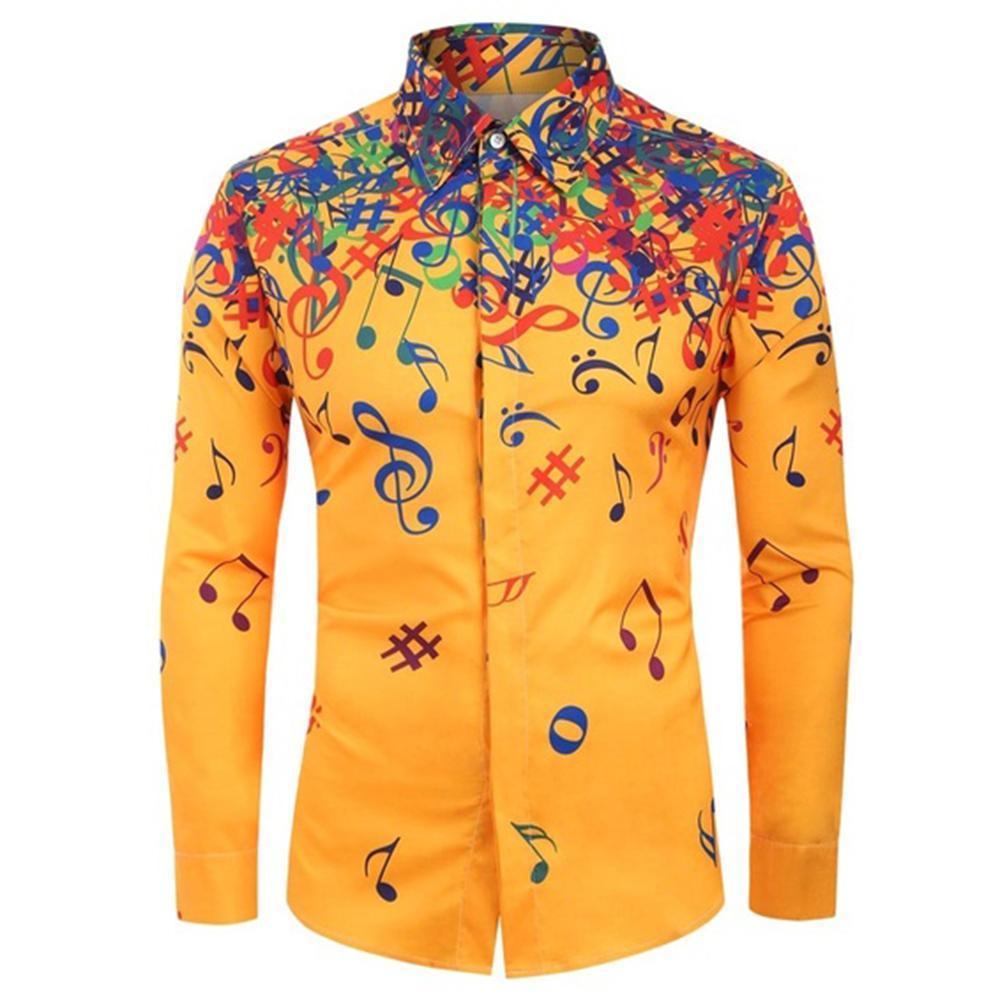 Erkekler Uzun kollu elbise gömlek Harf Erkekler Rasgele İnce Yaka Gömlek yazdır