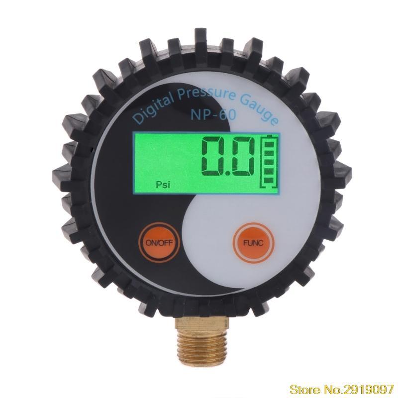 Dijital Gaz Basınç Göstergesi 0-10 Bar G1 / 4 Pil Gücü Tester Dedektör 0 ~ 145psiping Destek