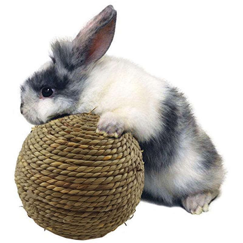 Oyuncak Pet Malzemeleri Taşlama Küçük Hayvan Çiğneme Oyuncak Doğal Çim Topu Diş Temizleme Oyuncak Tavşan Kediler Küçük Kemirgenler Dişler