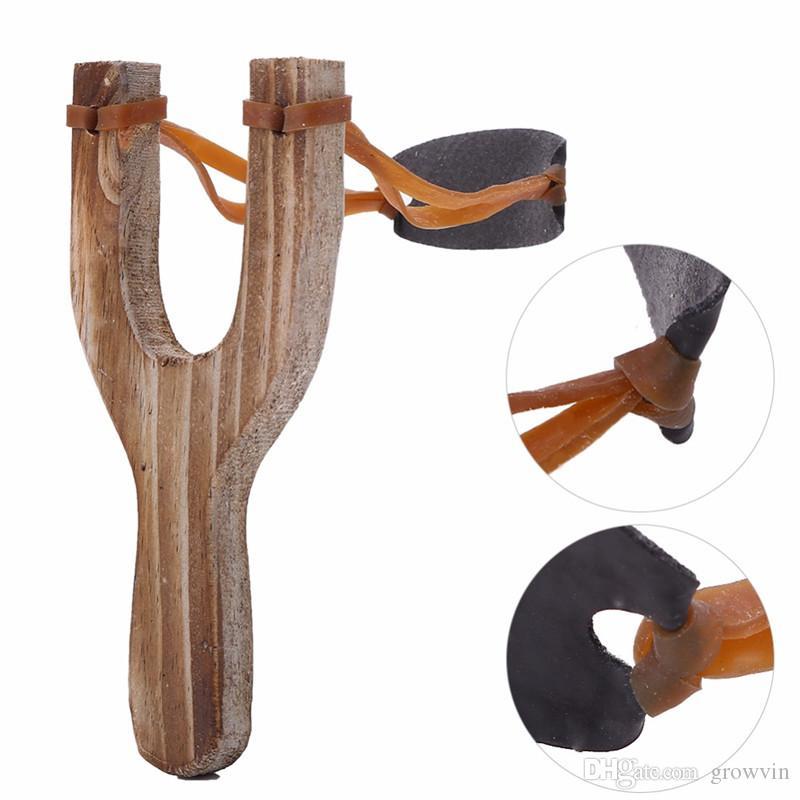 나무 재료 Slingshot 고무 문자열 재미 전통 아이들 야외에서 사냥 흥미 진진한 사냥 소품 완구 최고 품질 K008
