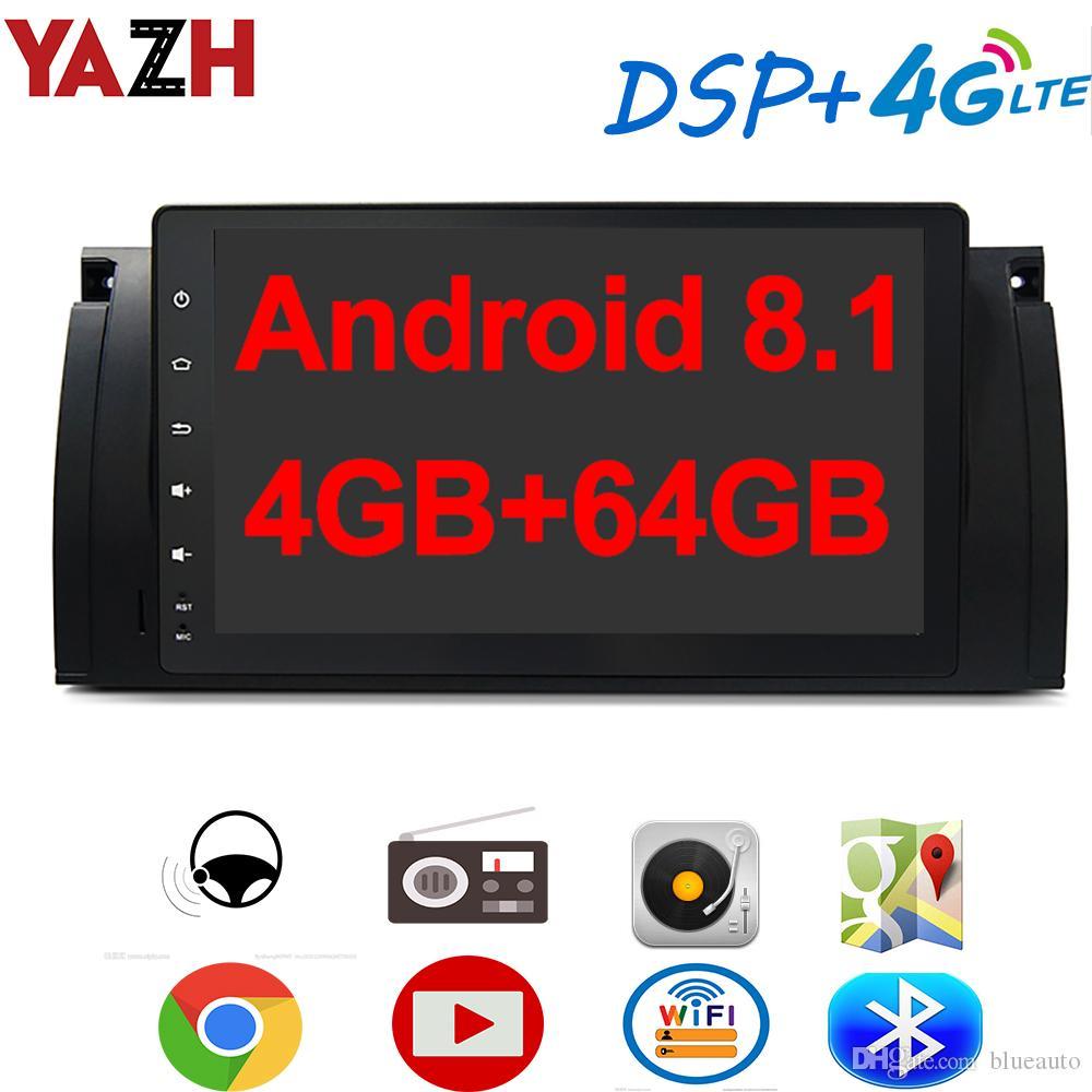 YAZH الروبوت 8.1 سيارة دي في دي GPS الوسائط المتعددة لBMW 5 سلسلة E39 X5 E38 E53 مع 9.0 العرض راديو IPS بلوتوث 5.0 4G SIM بطاقة DSP