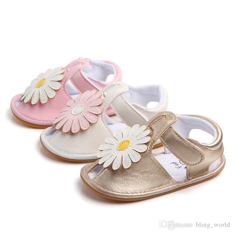 Randolly Toddler Shoes,Infant Kids Baby Girls Flower Casual Single Princess Shoes Summer Beach Sandals