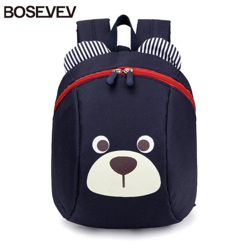 Aged 1-3 Nylon Toddler Backpacks Anti Lost Design Mini Backpack Schoolbag Children School Bags Kindergarten Girl Boys Backpack Y190530
