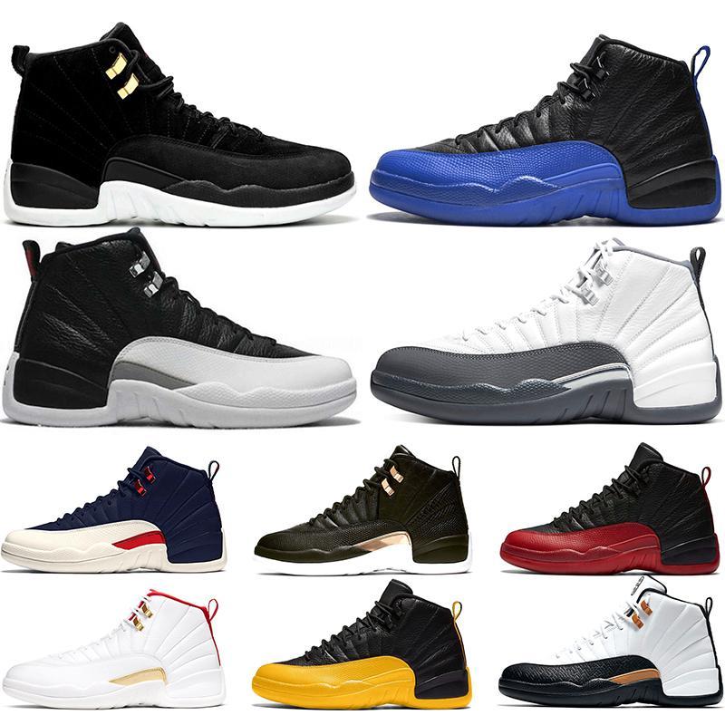Reverse Taxi Schwarz FIBA Männer Baskaetball Schuhe 12 12s Dunkelgrau Spiel Royal Flu Game Designer Herren Sneakers Sport Größe 40-47