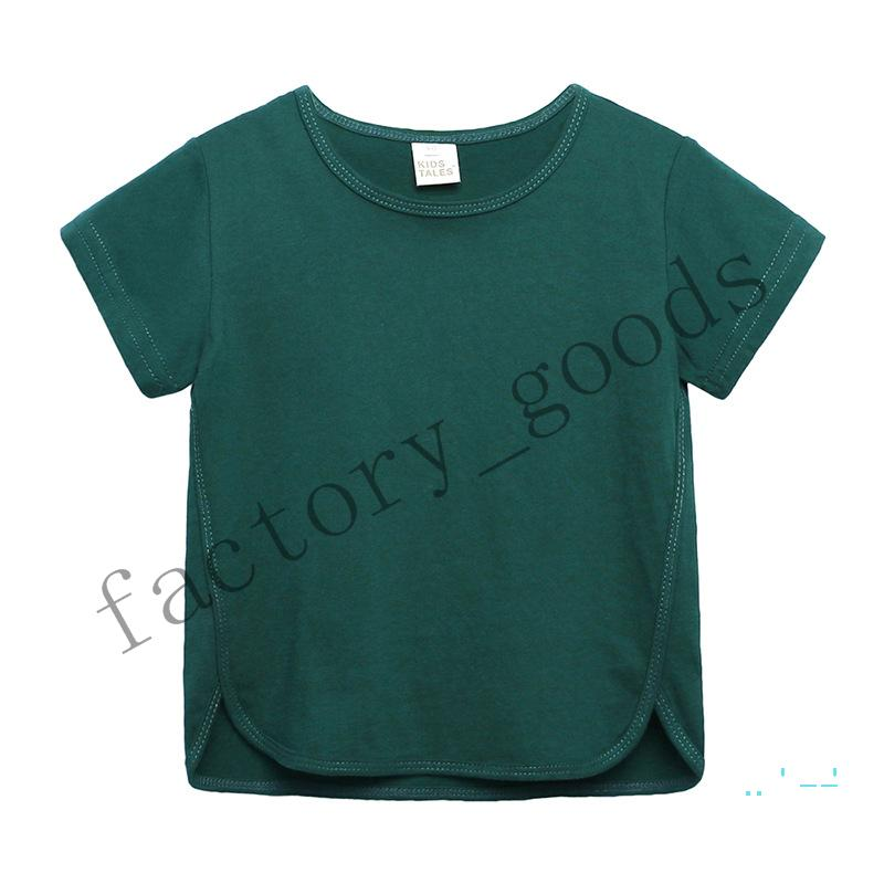 Children Clothes 2020 summer Top Tees boys and girls cotton short-sleeved macaron Color children's solid color Kids T-shirt DHL CZ330