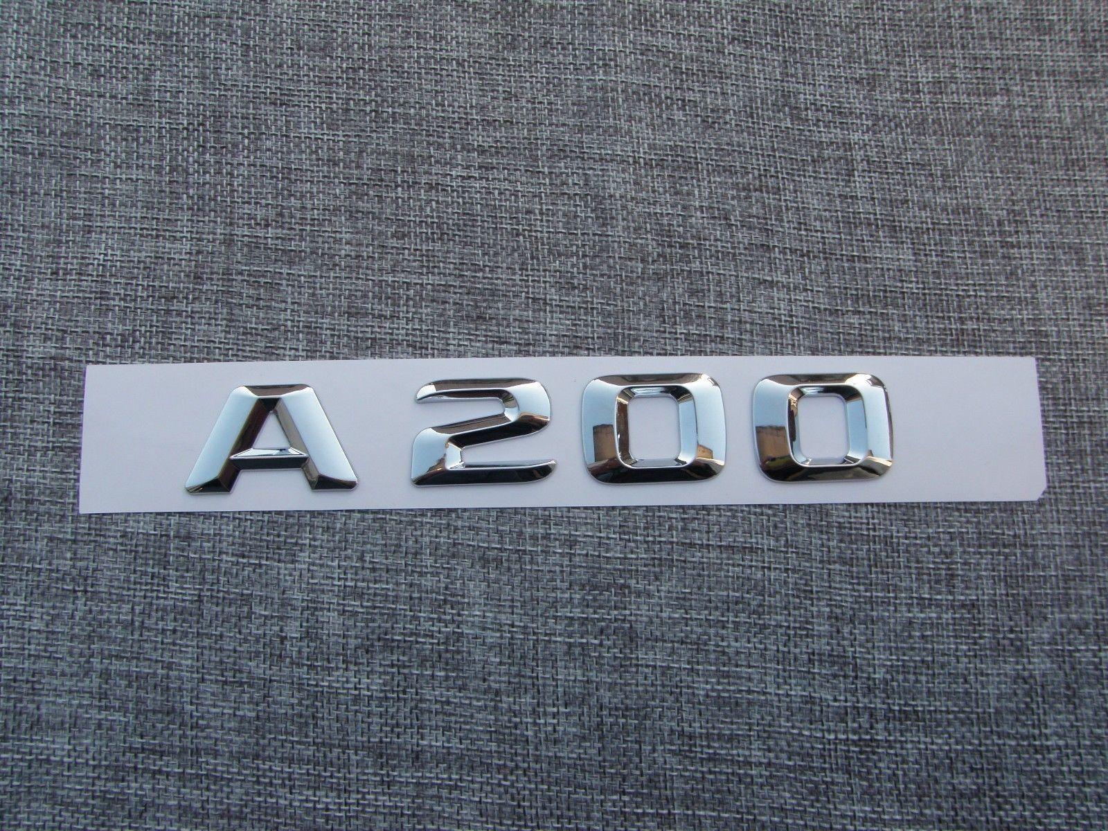 Chrome Numéro de lettres Trunk Emblem Decal Sticker pour Mercedes Benz Classe A200