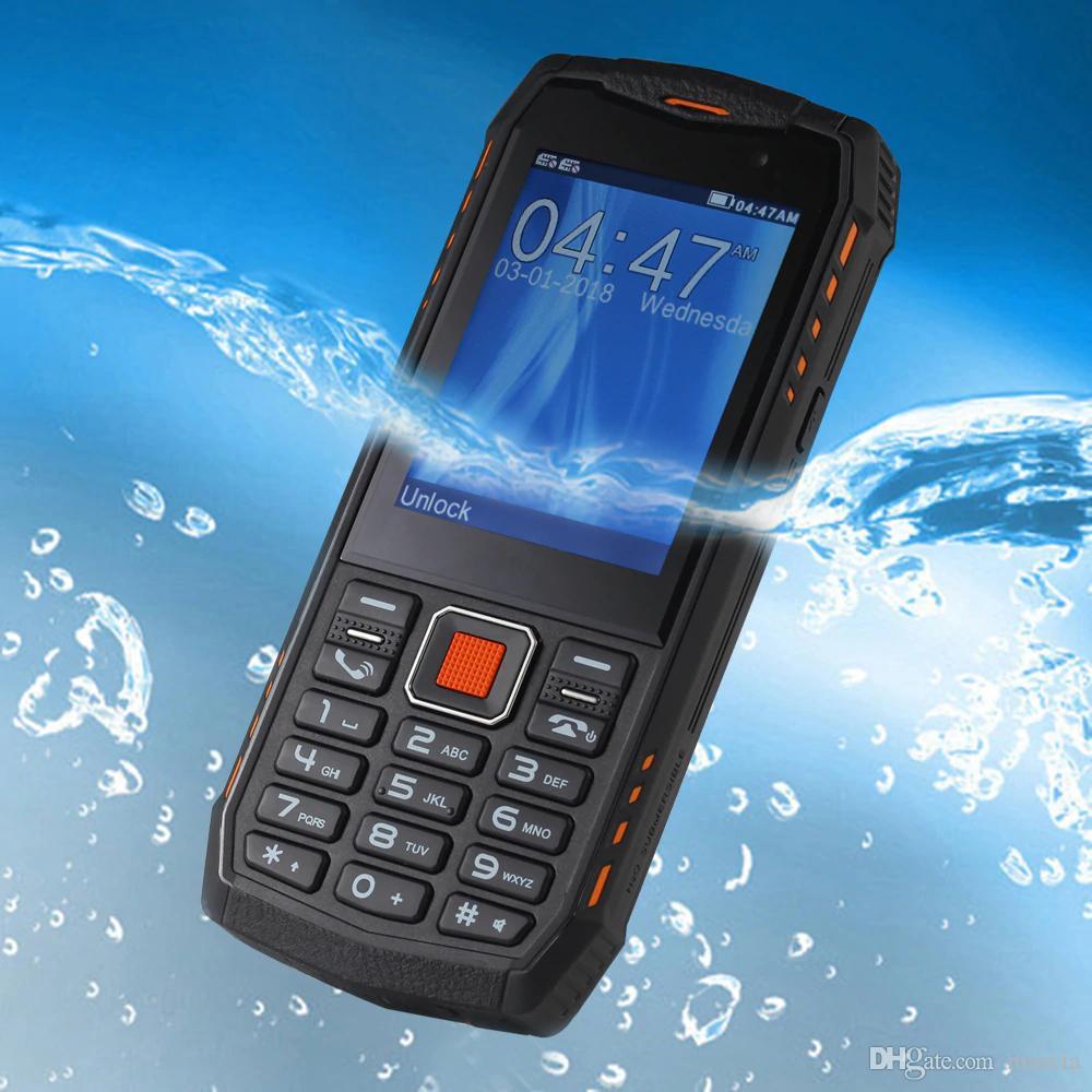 "MFU A903S 3G WCDMA mobile phones IP68 Waterproof Dustproof 2.8"" 2700mAh Torch FM bluetooth Dual Camera Dual SIM Card cell Phones"