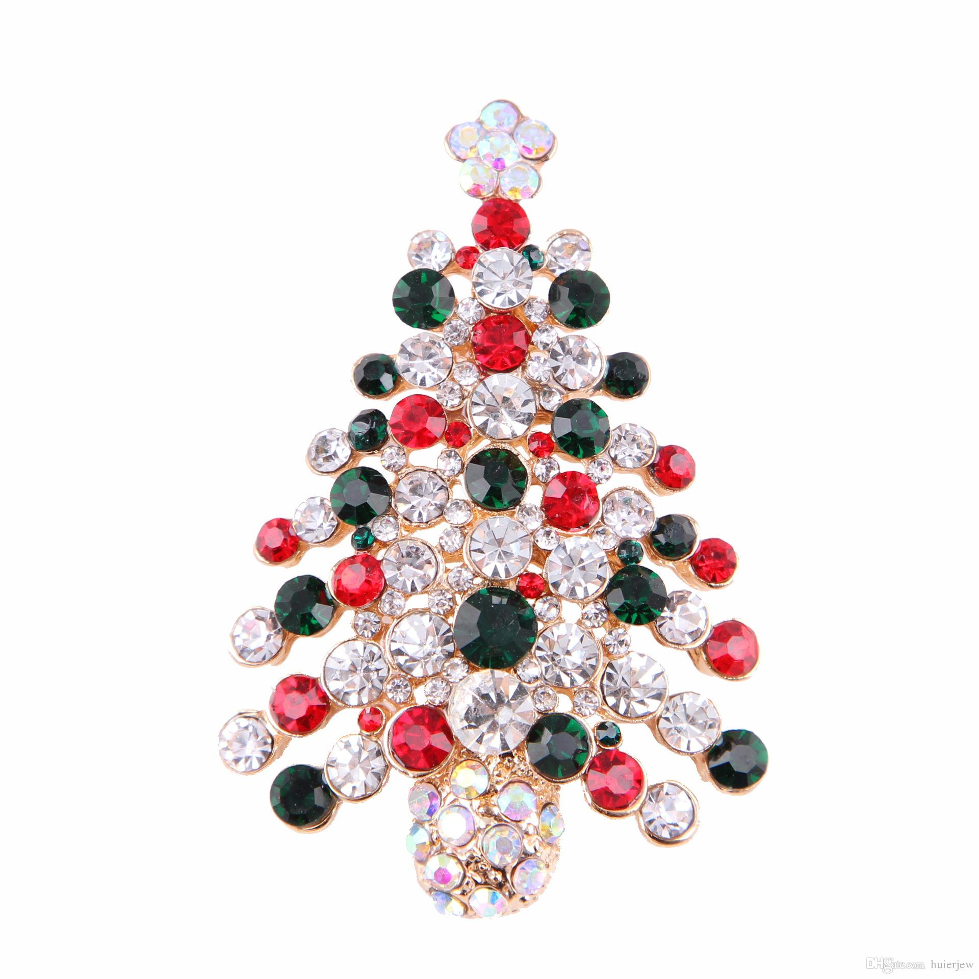 Christmas Brooches for the New Year Nice Winter Brooch Pins Luxury Jewelry Rhinestones Brooches