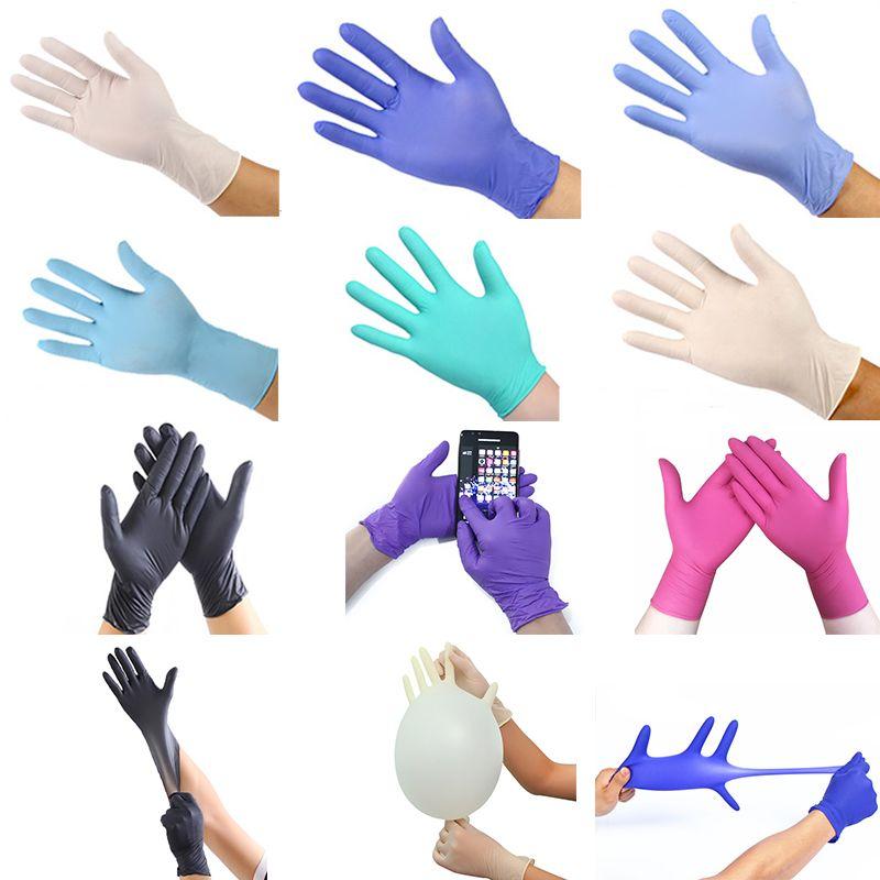 Newest Colorful Disposable Gloves Latex Anti-skid Anti-acid Gloves Dishwashing/Home/Kitchen /Work/Rubber/Garden Gloves Free Ship
