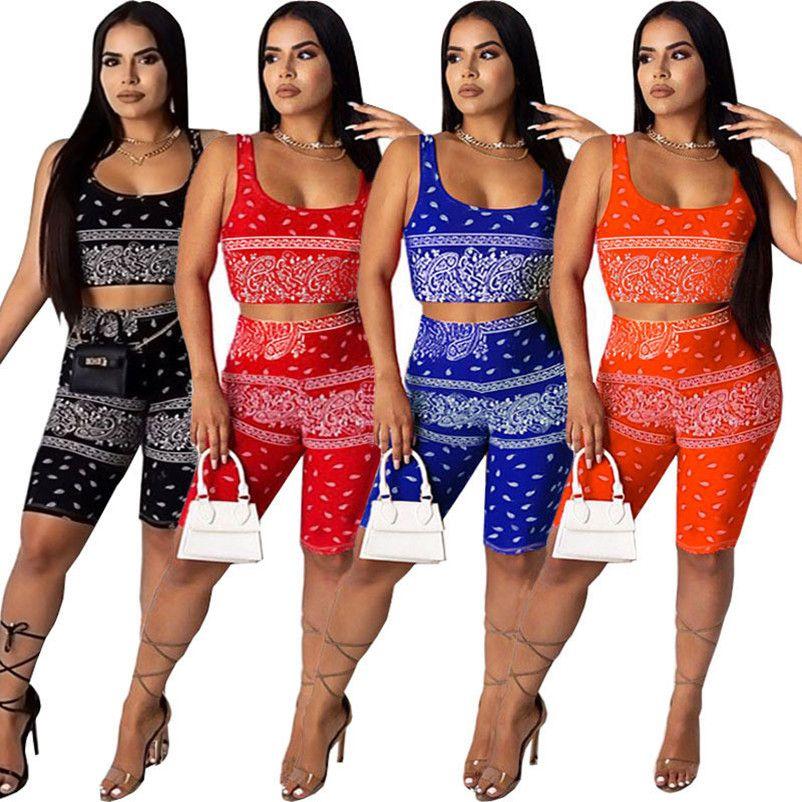 Для женщин спортивных одежды без рукавов краткостей обмундирования 2 шт набора женщин Tracksuit бега спортивного костюма Толстовка спортивного костюм klw4355