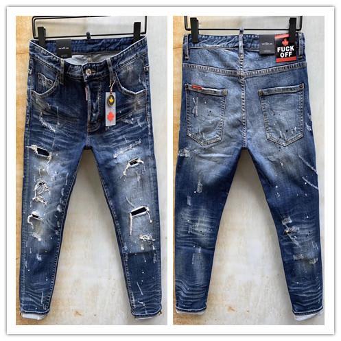 2020 neue Marke von modischem europäischen und amerikanischen Männern Casual Jeans, hochwertige Wäsche, reinen Hand Schleifen, Qualitätsoptimierung LA9681