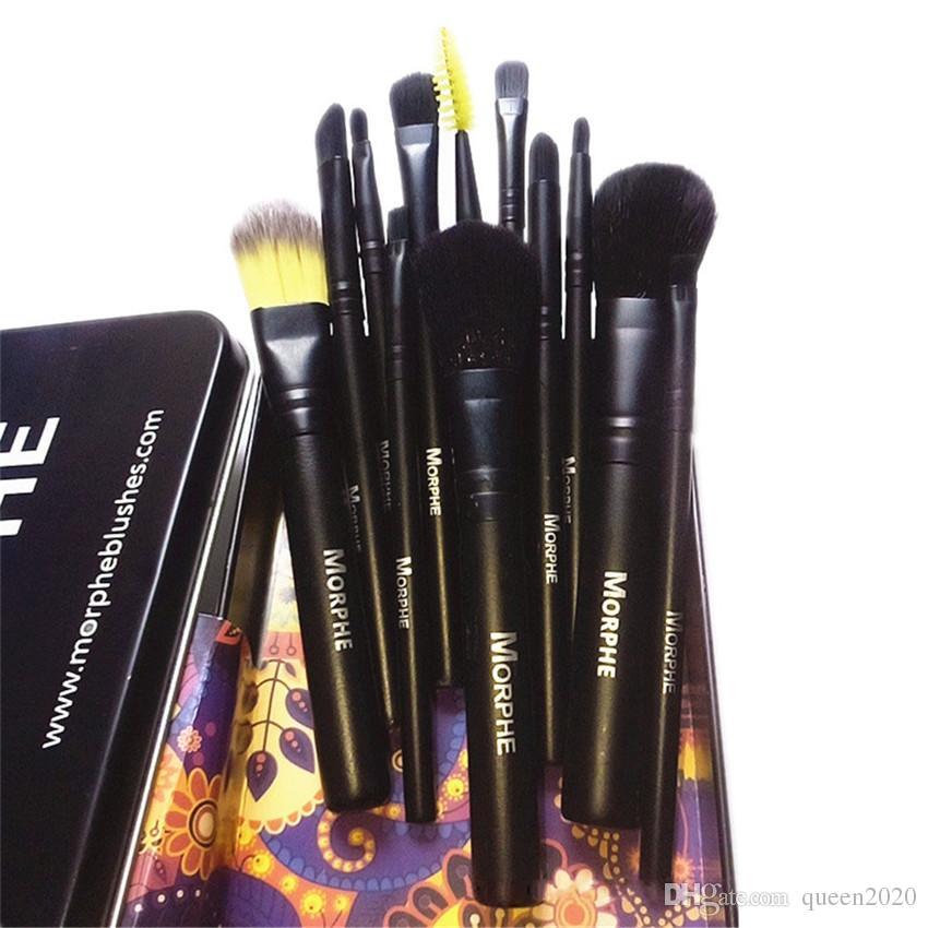 kutusuyla M Makyaj 12 Adet Makyaj Fırçalar Seti Kiti Seyahat Güzellik Profesyonel Naylon Kol Vakfı Dudaklar Kozmetik Makyaj Fırça