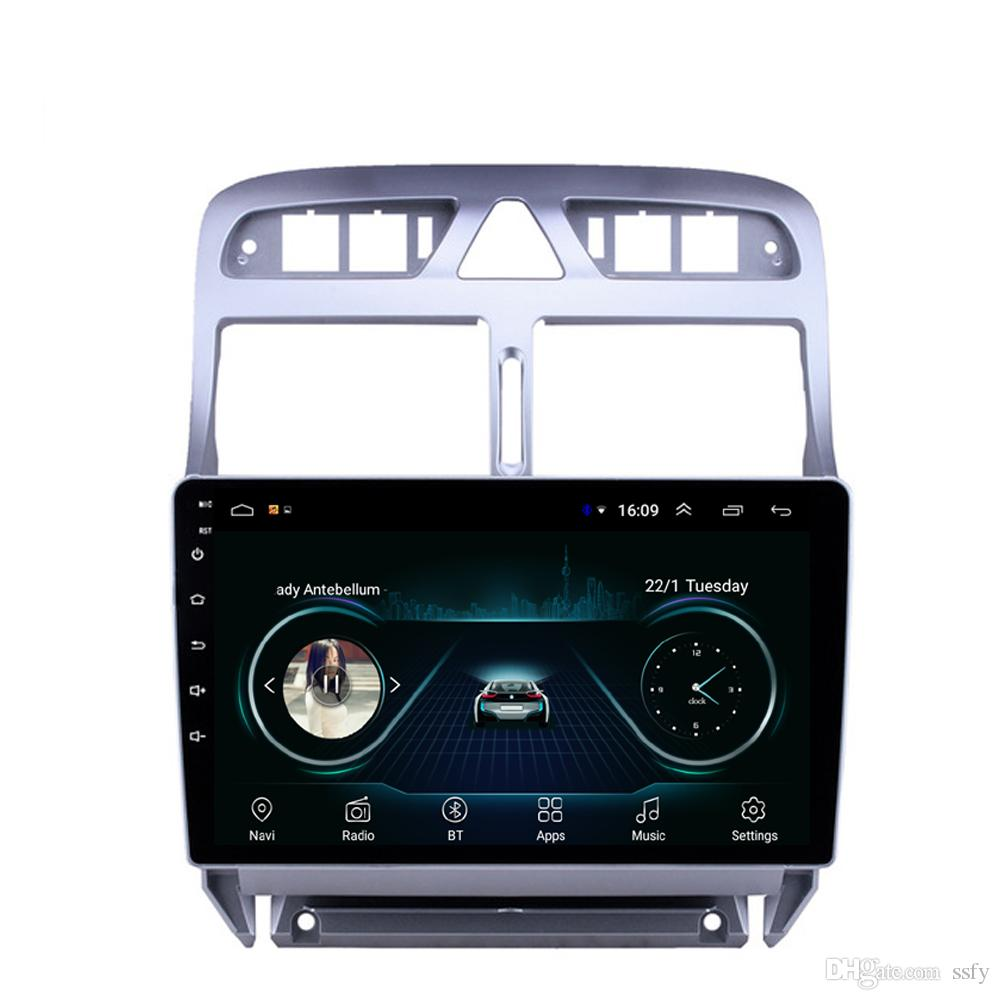 Android car system language mutil-touch screen good bluetooth front camera HD1080 display Resolution 1024 * 600 USB for peugeot 307 9inch