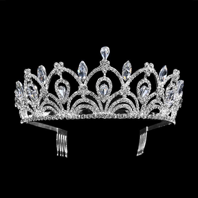 New Vintage Oro / argento Tiara Foglia Fascia Capelli Gioielli da sposa Accessori per capelli Principessa Corona Handmade Copricapo da sposa T-715 C19041101