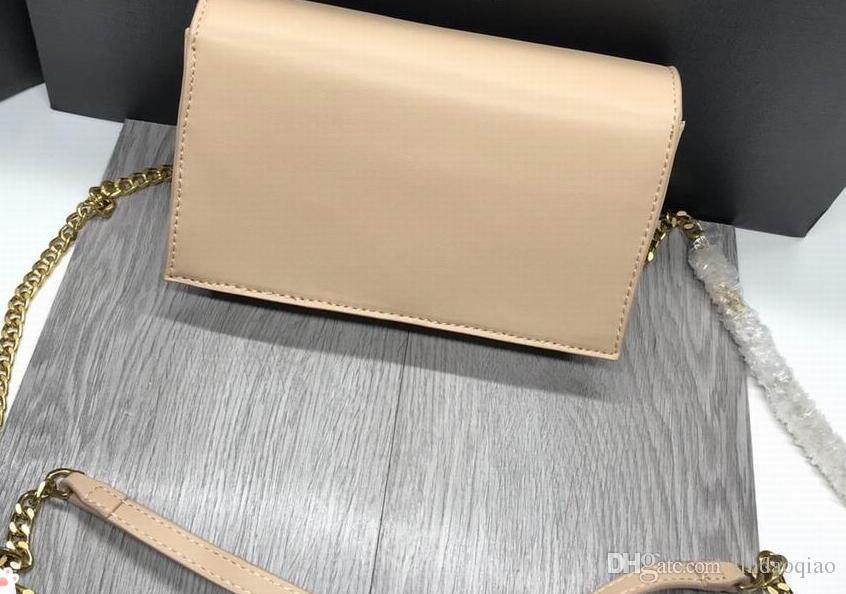 2019 Hot Leather Brand Cuttch Bag Sacchetto di qualità High Designer Borse Borse Borse Branded Borse Branded Catena Famoso Shipp Shipp Osrnj
