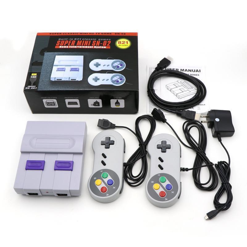 Coolbaby 슈퍼 HDMI 미니 레트로 TV 비디오 클래식 게임 콘솔 휴대용 플레이어 이중 게임 패드