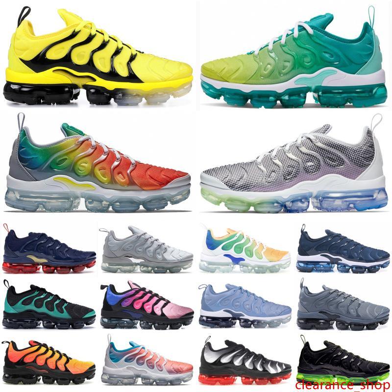 RACER juego real azul más Tn para hombre de los zapatos corrientes del abejorro Sé Designer Shoes verdadera arco iris EE.UU. uva blanqueado de Aqua para mujer zapatillas de deporte 36-45