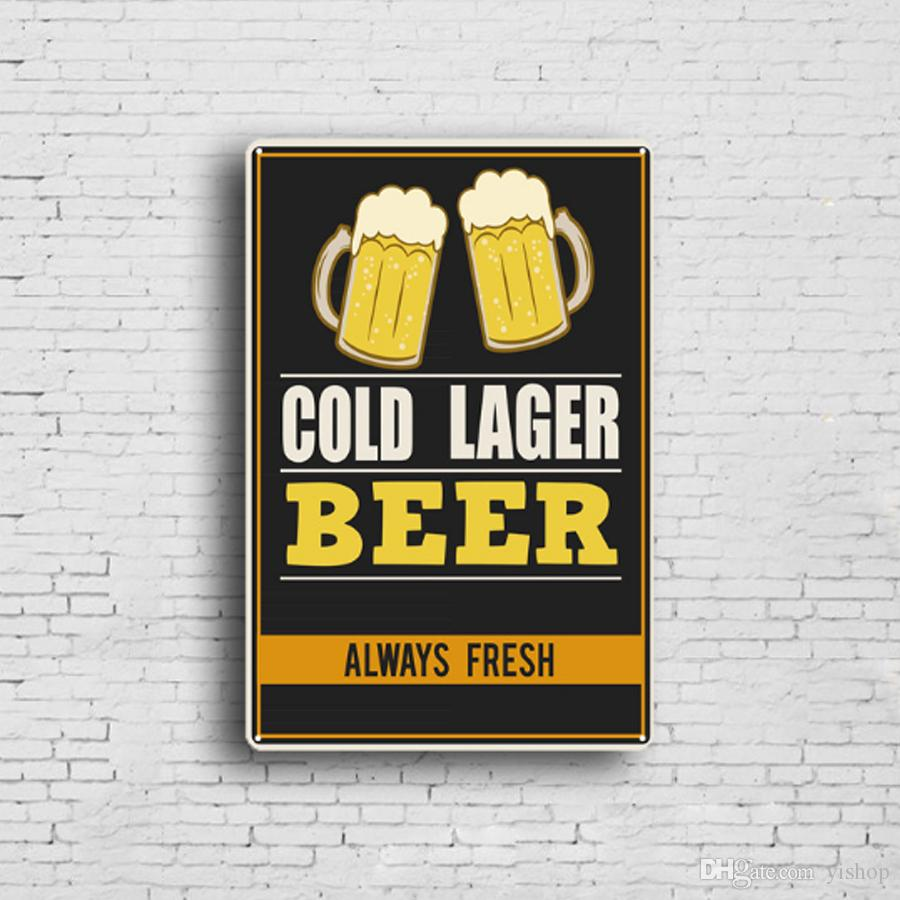 5 styles Beer Retro Plate Metal Motor Vintage Craft Tin Sign Retro Metal Painting Poster Bar Pub Wall Art Decor Art Pictures 20*30cm