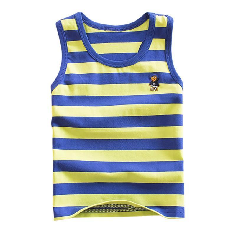Striped Girls Vest Sleeveless Tanks Boys Tops Cotton Kids Vest Camisoles  Shirt Underwear Girl Boy Underwear Girls Panies From Faone20, $24.89   DHgate.Com
