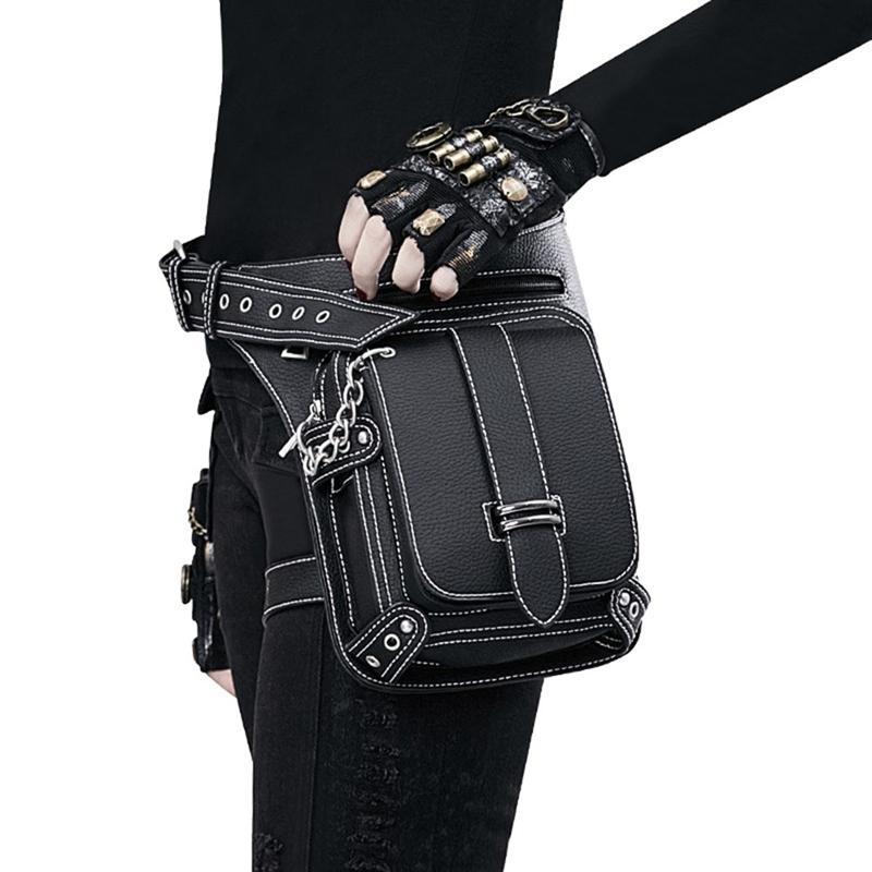 Tasche Gothic Tasche Retro Rock Steampunk Vintage Männer Schulter Retro Taschen Packungen Viktorianischer Stil Frauen Taille Goth Bein Uvvcm