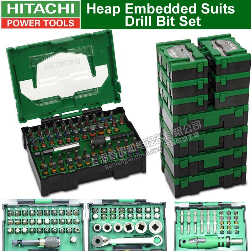 Япония HITAHCI вороха Встроенные костюмы Drill Bit Set Drill Head Set Отвертка электрическая отвертка Насадки Head Принадлежности Bit