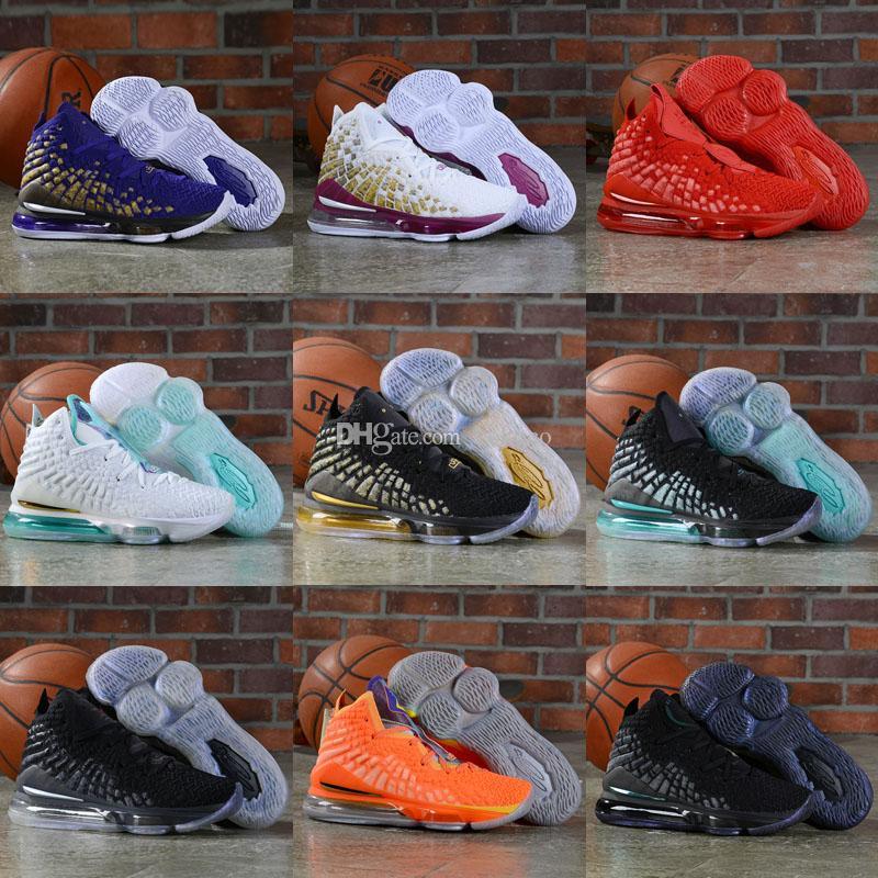 Alta calidad 2020 Nueva cenizas Santo Lebron 17 niños Baloncesto llegada de los zapatos zapatillas de deporte para hombre 17s 17s Casual King calzado deportivo