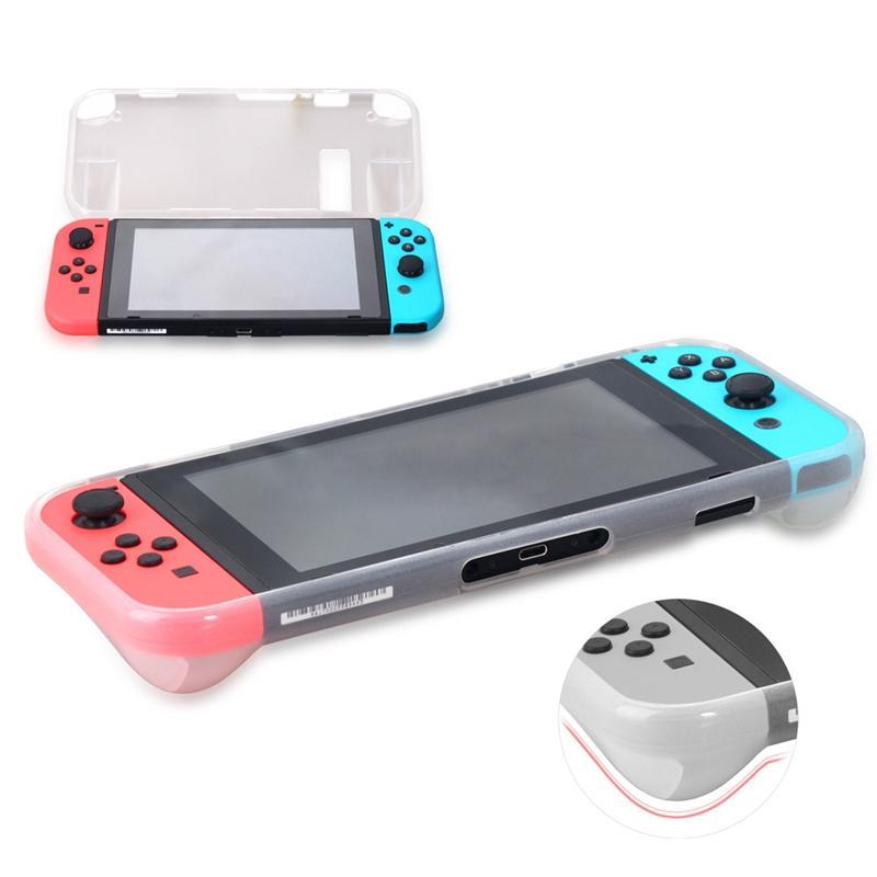 AMS-TPU Anti-царапинам задняя крышка чехол премиум Crystal Clear Shock с экрана Закаленное стекло протектор для Nintendo Переключатель белый