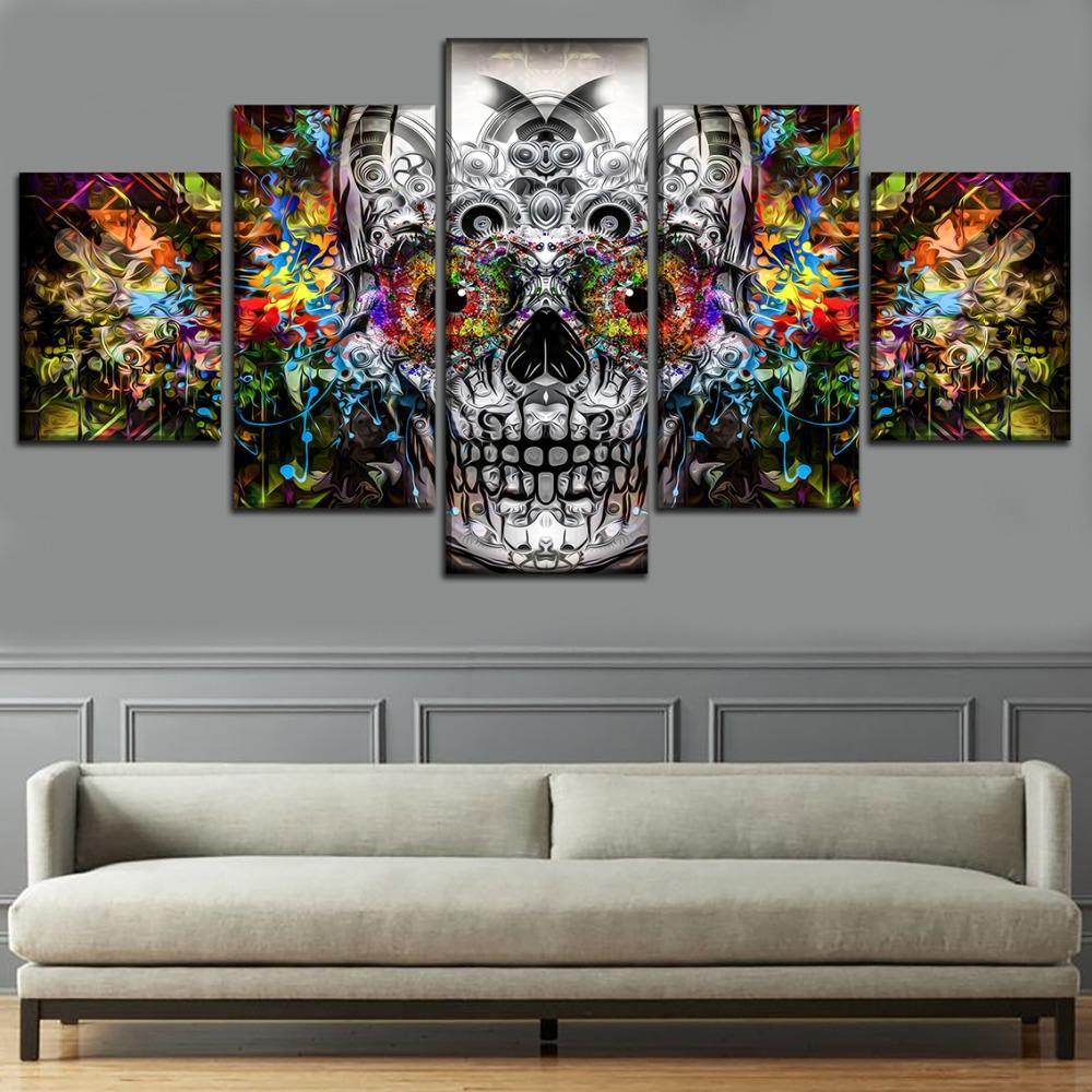 Wall art canvas painting 5 piece 5 Pieces Cartoon Game Modern Home Wall Decor Painting Canvas HD Print Painting Canvas Wall Picture For Home Decor