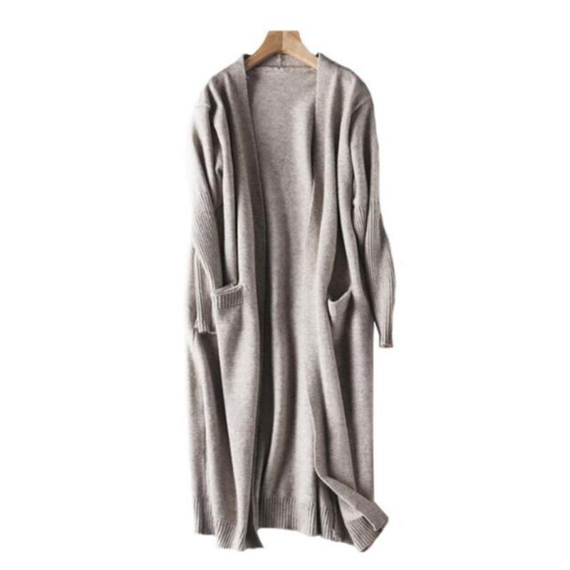 Nuovo maglione di colore solido femminile girocollo a maglia allentato maglione basa camicia coreana Student marea femminile Autum inverno Cardigan