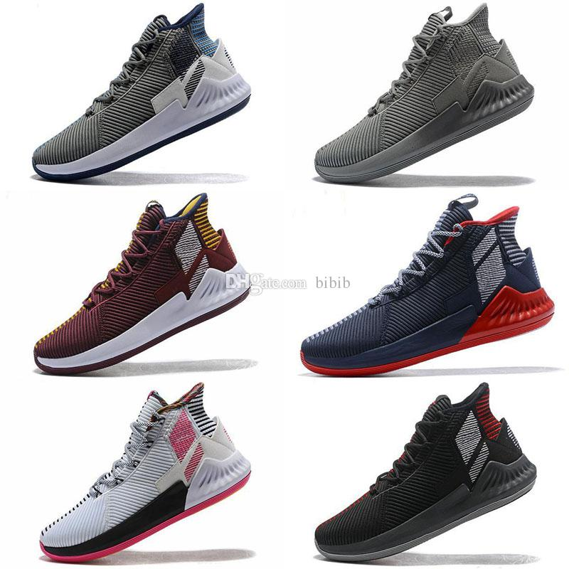 coupon code new styles quality 2019 New D Rose 9 Kids Basketball Shoes Men High Cut IX Newest Sneakers  Derrick Rose 9S Grey Blue Black Gold Trainers Boys Sports Slippers Girl  Sports ...