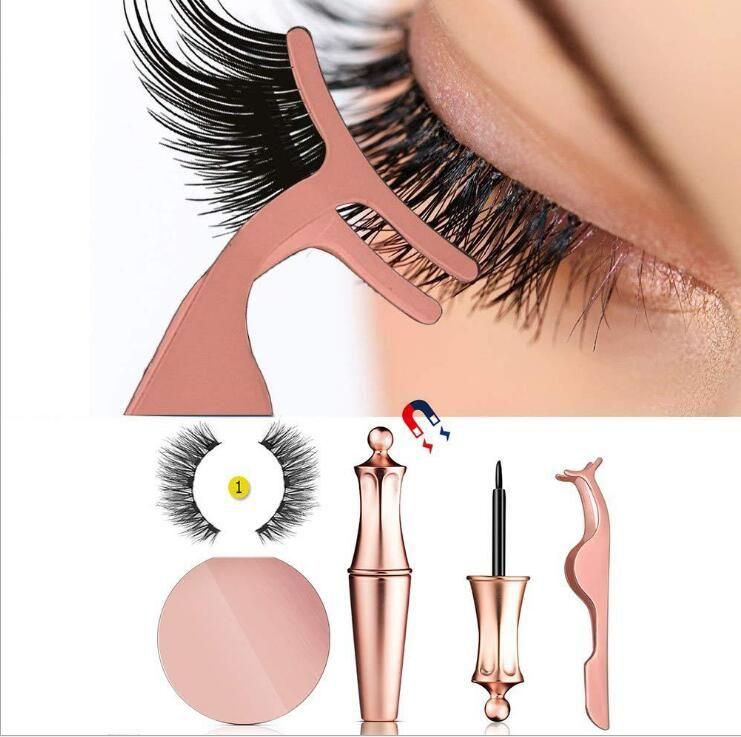 2019 New Magnetic Eyeliner With Magnetic Eyelashes Kit Long Lasting Waterproof False Eyelashes And Eyelash Tweezers