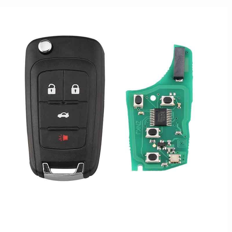 433MHZ Flip Remote Key per Chevrolet CRUZE CAMARO SONIC MALIBU EQUINOX Vela Aveo Lova 4Button Chiavi per auto ID46 Chip