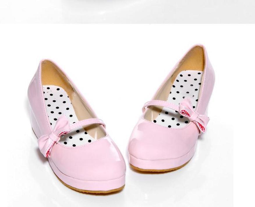 2020 весной и осенью с новой модой стиля Slope пяткой круглой головой банта обуви Женской @ MQWBH751