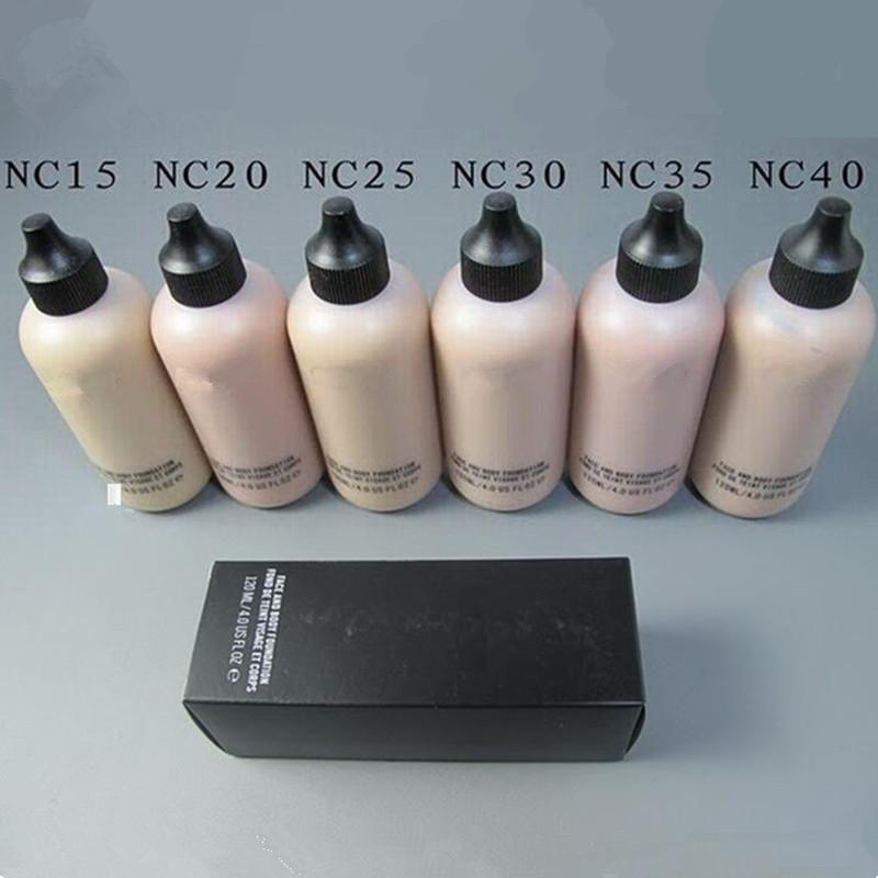 Famous Brand Studio Face and Body Foundation Liquid Makeup Concealer Cosmetics 120 ML 6 Colors NC15 NC20 NC25 NC30 NC35 NC40