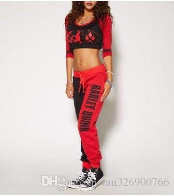 Suicide team Harley Quinn jogger pants ladies sweatpants bottom jogging fitness pants casual wear explosion suit