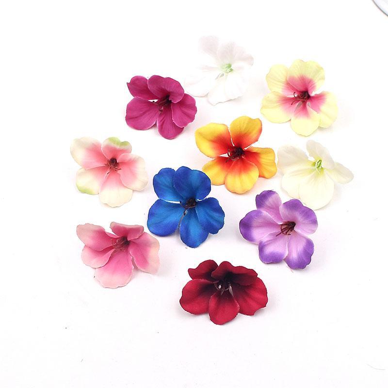 Düğün Ev Dekorasyon Gerçek Dokunmatik Orchis Cymbidium Çiçekler Bitkiler İçin Yeni Tasarım 200pcs 5 cm Mini İpek Orkide Yapay Çiçek Başkanı