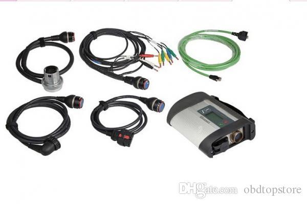 MB Estrela C4 com 5 Cabos SDconnect Diagnóstico Suporte Multiplexer para Benz carros e caminhões em estoque