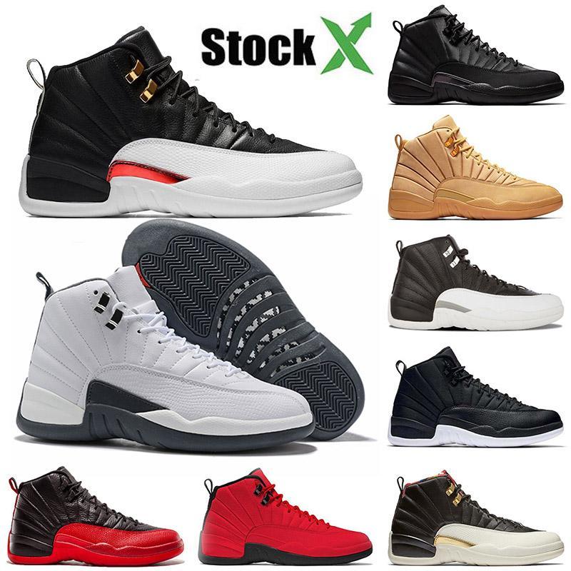 Nike Air Jordan Retro 12 Homem de 2020 sapatos novos homens chegada de basquete 12 12s branco cinza do mestre atlético treinadores desportivos sneakers
