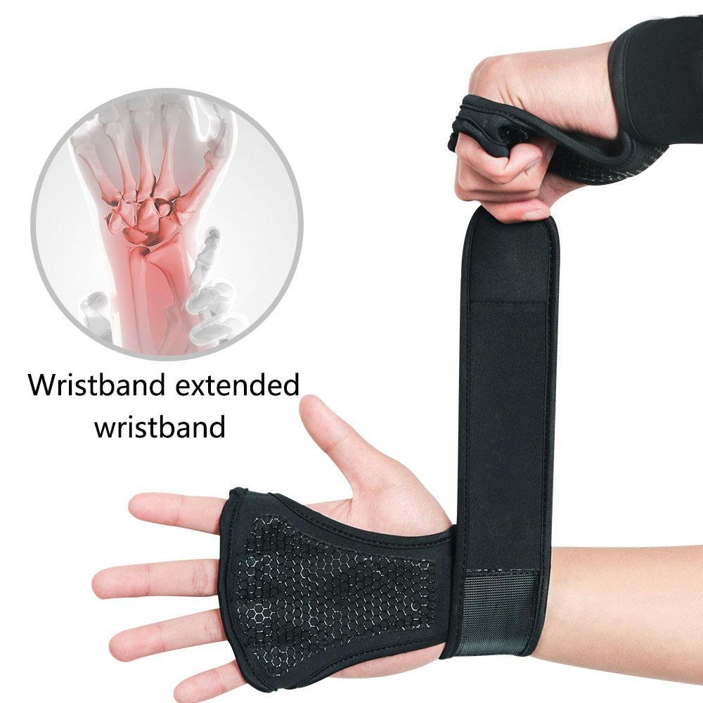 2019 Тяжелая атлетика вентилируемые перчатки со встроенными обертываниями запястья, полная защита ладони дополнительное сцепление отлично подходит для подтягивания, Тяжелая атлетика M428F