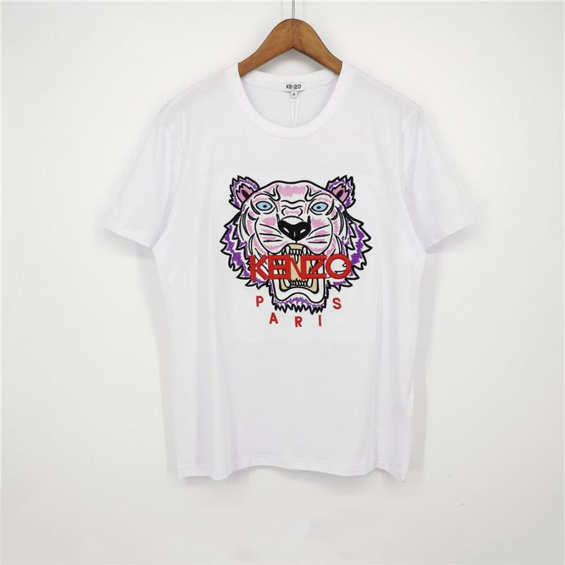 Beyaz Renk Moda Marka Erkek Tasarımcısı Tişörtler Kız Tişört Kısa Kollu Gömlek Kaplan Baş Kadın Yaz Tees Üst Kalite C1DCG 2031702V