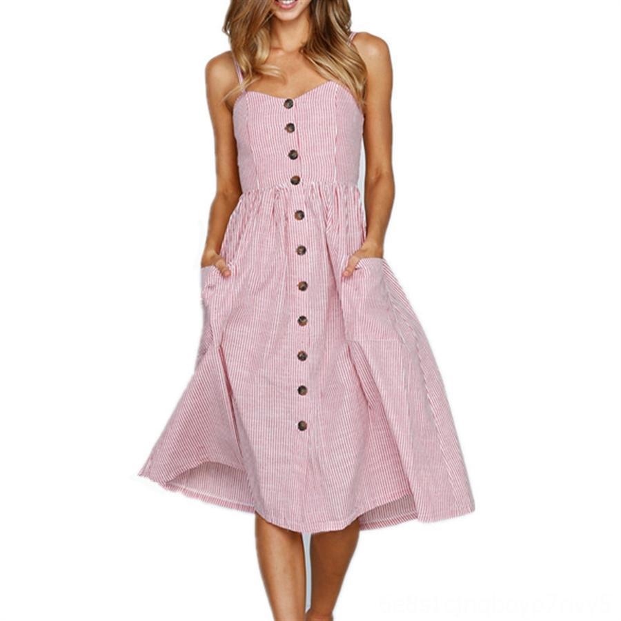 NIE7e Irregular Impressão Mulheres Vestidos Verão Gradient Pescoço Corte vestido de manga listra longa das senhoras Casual Vestidos